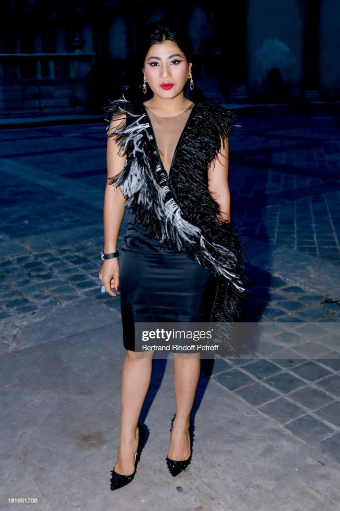 Princess Sirivannavari Nariratana arriving at Lanvin show as part of the Paris Fashion Week Womenswear Spring/Summer 2014, held at 'Ecole des beaux Arts' on September 26, 2013 in Paris, France.