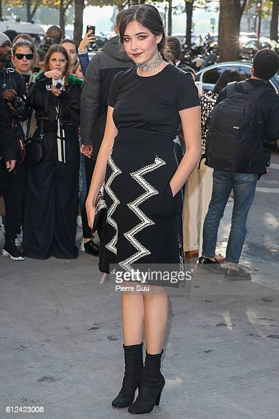 Princess Sirivannavari Nariratana of Thailand leaves the Chanel show as part of the Paris Fashion Week Womenswear Spring/Summer 2017 on October 4...