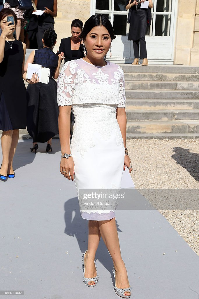 Princess Siriwanaree Nareerat of Thailand arrives Christian Dior show as part of the Paris Fashion Week Womenswear Spring/Summer 2014 on September 27, 2013 in Paris, France.