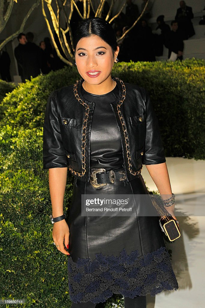 Princess Siriwanwaree Nareerat of Thailand attends the Christian Dior Spring/Summer 2013 Haute-Couture show as part of Paris Fashion Week at on January 21, 2013 in Paris, France.
