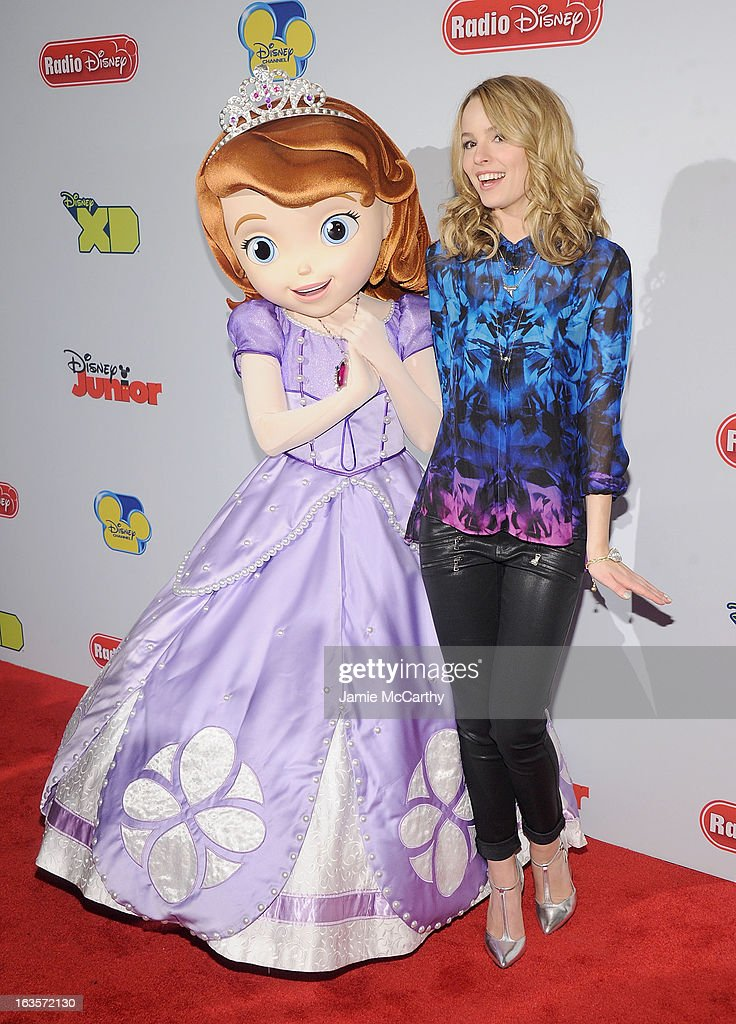 Princess Sofia and Bridgit Mendler attend the Disney Channel Kids Upfront 2013 at Hudson Theatre on March 12, 2013 in New York City.