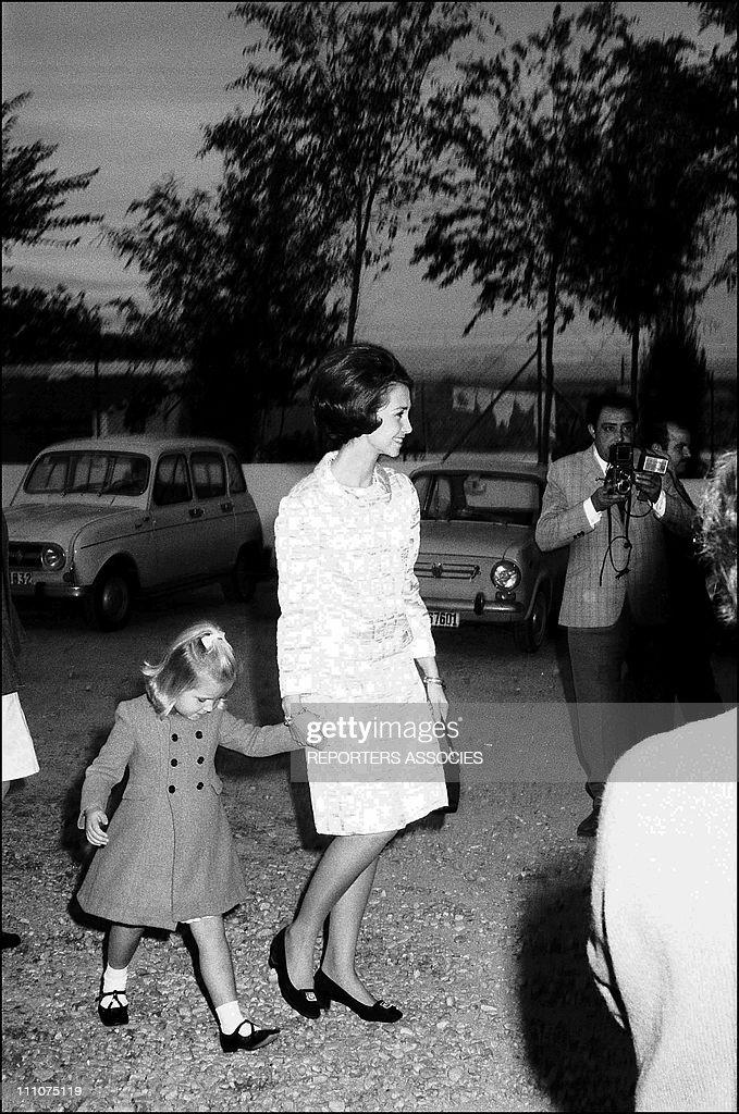 Princess Sofia and Elena in Spain on November 06th 1968