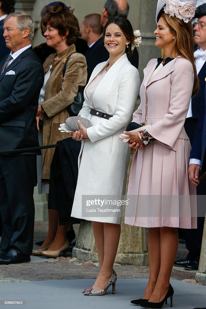 Princess Sofia and Princess Madeleine of Sweden are seen at the celebrations of the Swedish Armed Forces for the 70th birthday of King Carl Gustaf of Sweden on April 30, 2016 in Stockholm, .