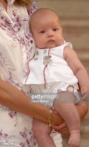 Princess Sofia during the photocall on August 6 2007 at Marivent Palace in Mallorca Spain