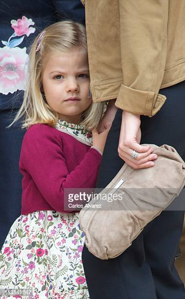Princess Sofia of Spain attends Easter Mass on April 24 2011 in Palma de Mallorca Spain