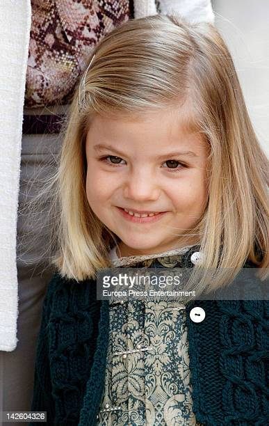 Princess Sofia of Spain attends Easter Mass on April 8 2012 in Palma de Mallorca Spain