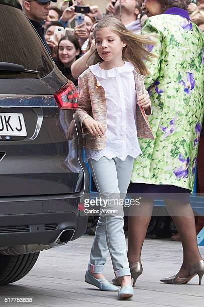 Princess Sofia of Spain attends the Easter Mass at the Cathedral of Palma de Mallorca on March 27 2016 in Palma de Mallorca Spain