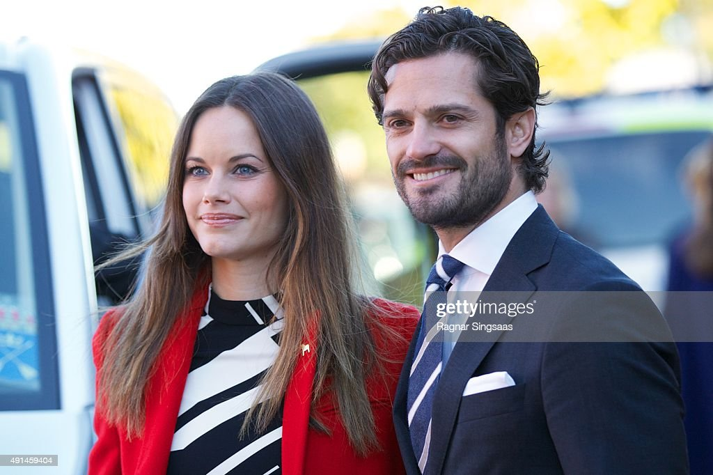 Princess Sofia of Sweden and Prince Carl Philip of Sweden visit a consultant unit for refugees during the first day of their trip to Dalarna on October 5, 2015 in BORLANGE Borlange, Sweden.