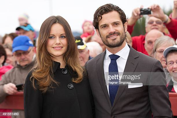 Princess Sofia of Sweden and Prince Carl Philip of Sweden visit the company ICell during the second day of their trip to Dalarna on October 6 2015 in...
