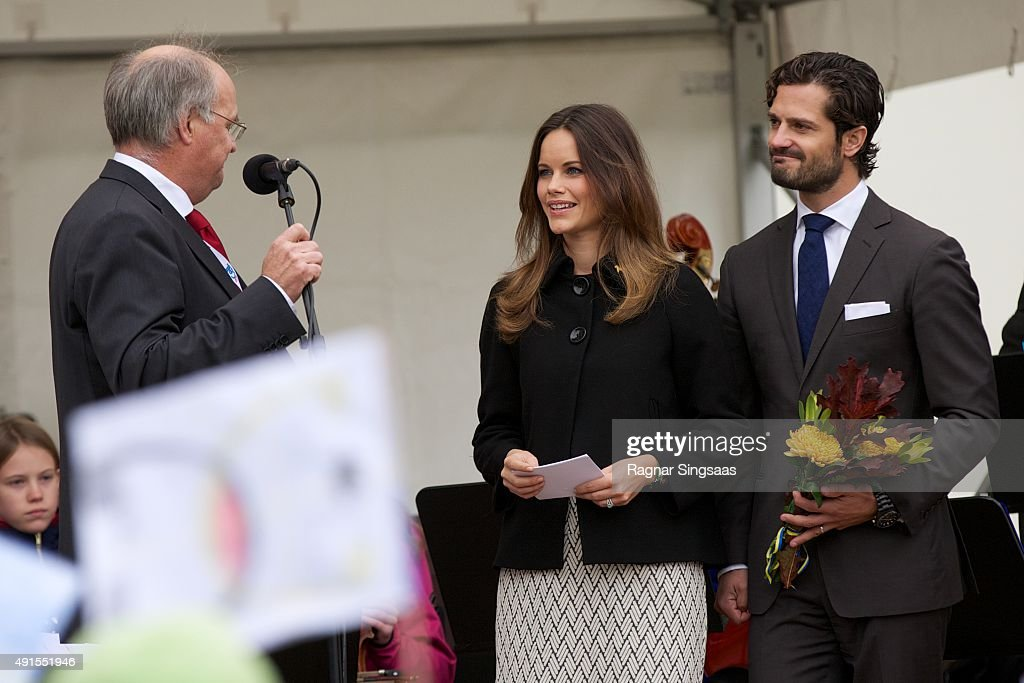 Princess Sofia of Sweden and Prince Carl Philip of Sweden visit the company I-Cell during the second day of their trip to Dalarna on October 6, 2015 in Alvdalen, Sweden.