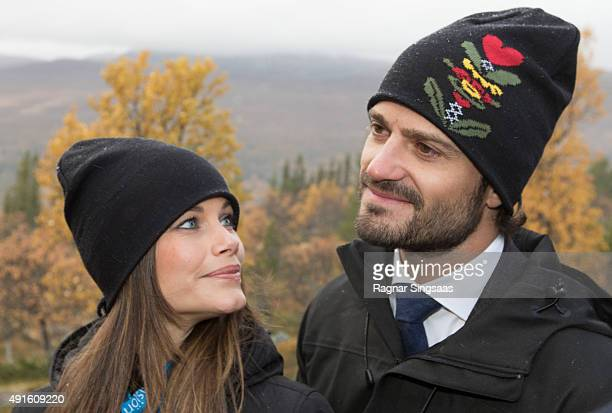 Princess Sofia of Sweden and Prince Carl Philip of Sweden visit the Idre Sami Village during the second day of their trip to Dalarna on October 6...