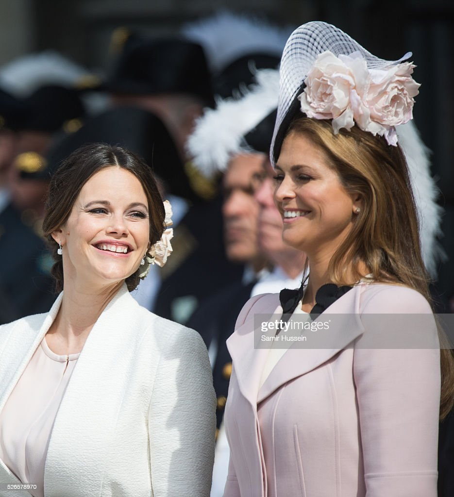 Princess Sofia of Sweden and Princess Madeleine of Sweden attend the celebrations of the Swedish Armed Forces for the 70th birthday of King Carl Gustaf of Sweden on April 30, 2016 in Stockholm, Sweden.