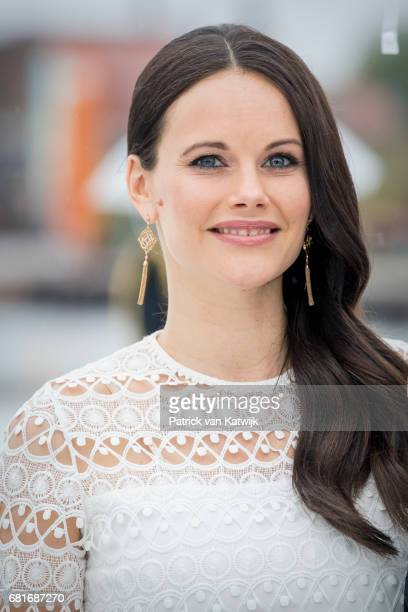 Princess Sofia of Sweden arrive at the Opera House on the ocassion of the celebration of King Harald and Queen Sonja of Norway 80th birthdays on May...