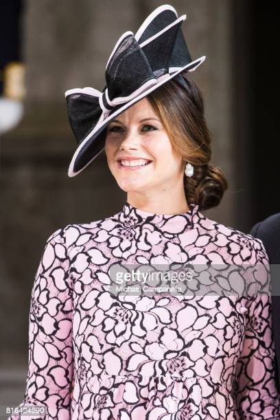 Princess Sofia of Sweden arrive for a thanksgiving service on the occasion of The Crown Princess Victoria of Sweden's 40th birthday celebrations at...