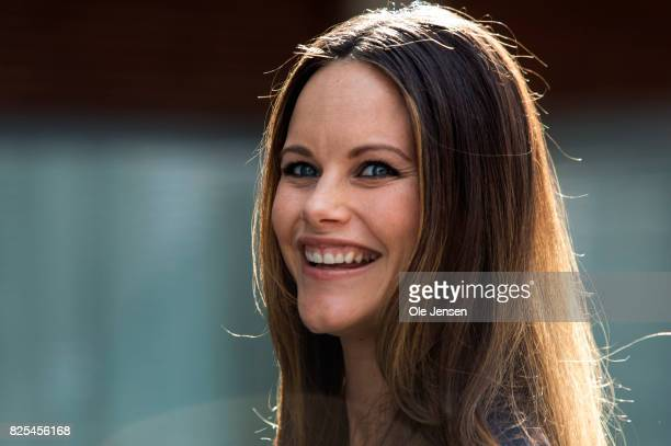 Princess Sofia of Sweden arrives to the Granslosa Moten's Sustainability and future seminar 'A Sustainable Tomorrow' on August 2 2017 in Bastad Sweden