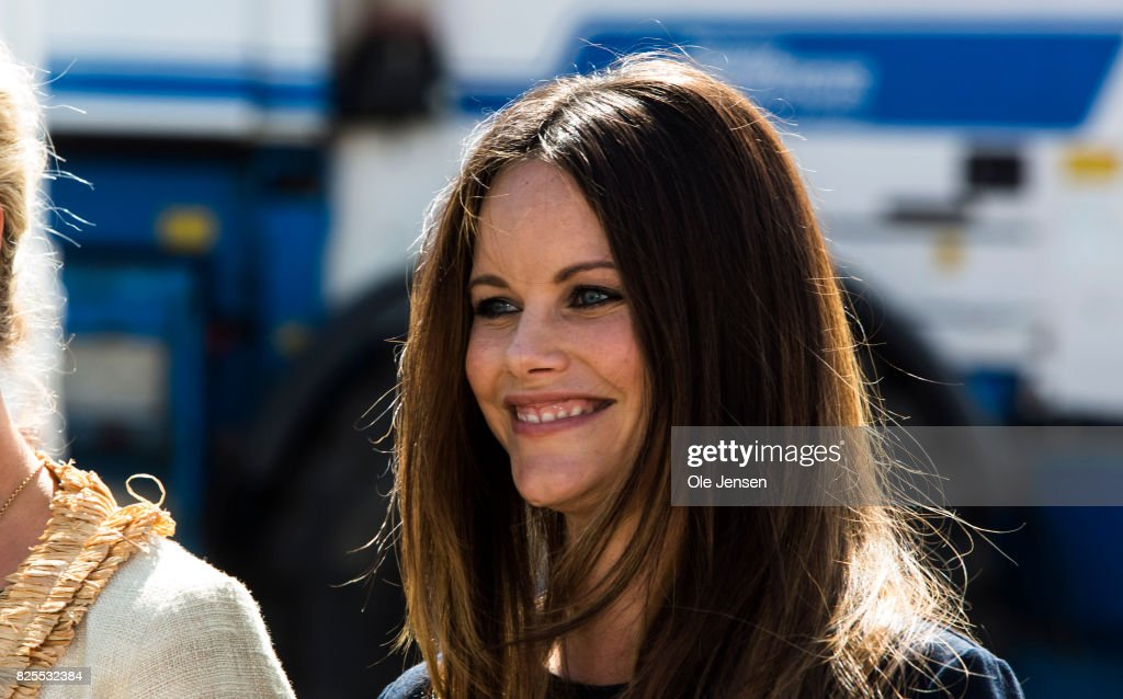 Princess Sofia of Sweden as seen during her participation in the the Granslosa Moten's Sustainability and Future Seminar, 'A Sustainable Tomorrow' on August 2, 2017 in Bastad, Sweden.