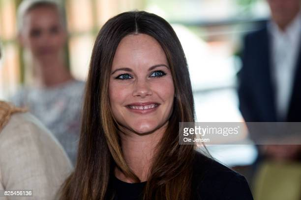 Princess Sofia of Sweden as seen during to the Granslosa Moten's Sustainability and future seminar 'A Sustainable Tomorrow' on August 2 2017 in...