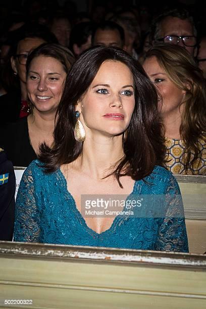 Princess Sofia of Sweden attend 'Christmas in Vasastan' concert at Gustav Vasa church on December 21 2015 in Stockholm Sweden