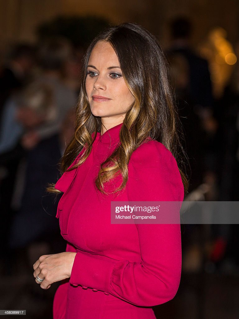 Princess Sofia of Sweden attends an exhibition of royal wedding dresses at the Royal Palace on October 17, 2016 in Stockholm, Sweden.
