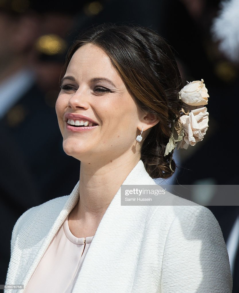Princess Sofia of Sweden attends the celebrations of the Swedish Armed Forces for the 70th birthday of King Carl Gustaf of Sweden on April 30, 2016 in Stockholm, Sweden.