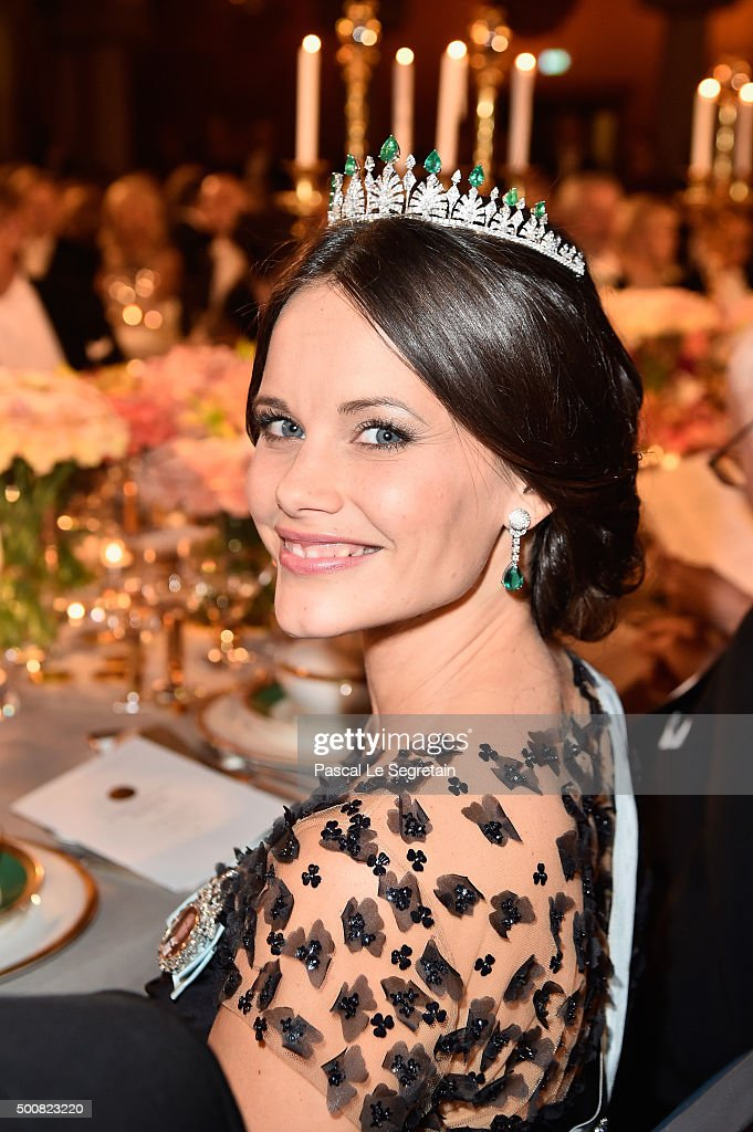 Princess Sofia of Sweden attends the Nobel Prize Banquet 2015 at City Hall on December 10, 2015 in Stockholm, Sweden.