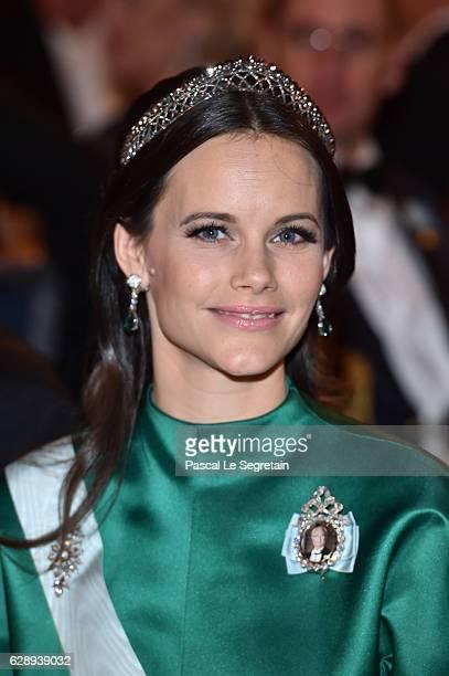 Princess Sofia of Sweden attends the Nobel Prize Banquet 2015 at City Hall on December 10 2016 in Stockholm Sweden