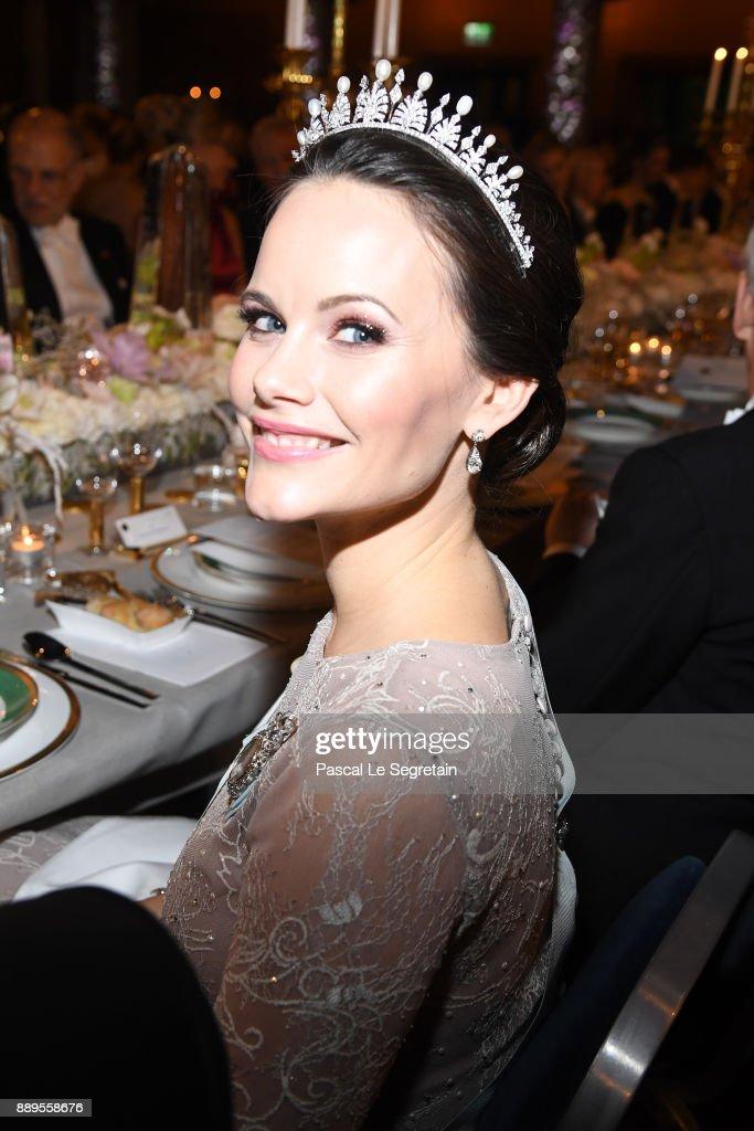 Princess Sofia of Sweden attends the Nobel Prize Banquet 2017 at City Hall on December 10, 2017 in Stockholm, Sweden.