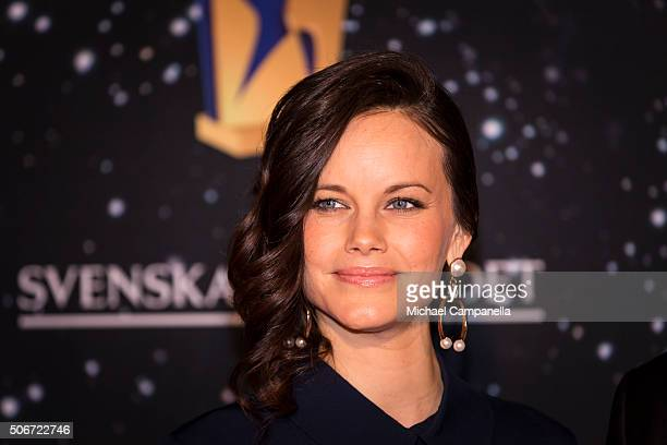 Princess Sofia of Sweden attends the Swedish Sports Gala at the Ericsson Globe on January 25 2016 in Stockholm Sweden