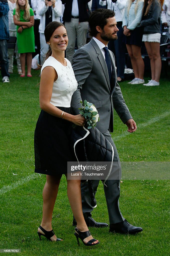 Princess Sofia of Sweden; Prince Carl Philip of Sweden attend a concert to celebrate the 38th birthday of Crown Princess Victoria of Sweden at Borgholmon July 14, 2015 in Oland, Sweden.