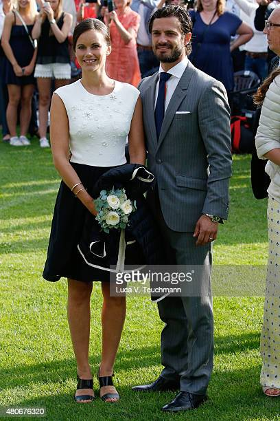 Princess Sofia of Sweden Prince Carl Philip of Sweden attend a concert to celebrate the 38th birthday of Crown Princess Victoria of Sweden at...