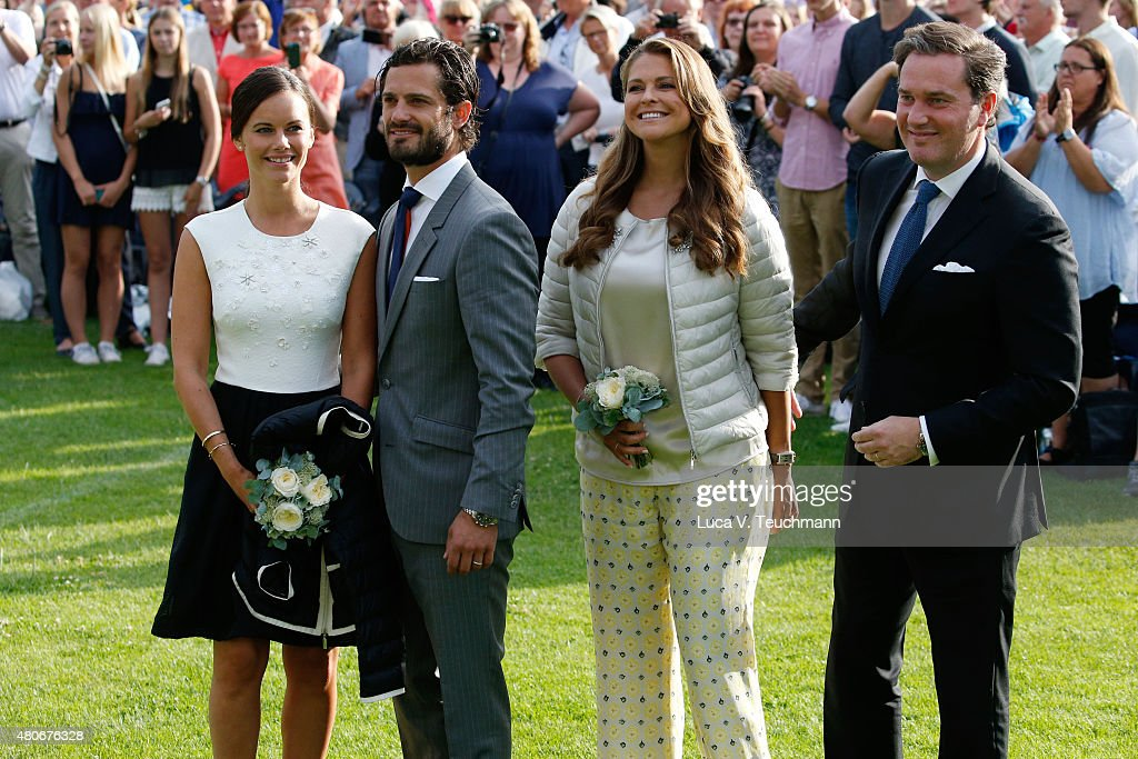 Princess Sofia of Sweden; Prince Carl Philip of Sweden; Princess Madeleine of Sweden; Christopher O'Neill attend a concert to celebrate the 38th birthday of Crown Princess Victoria of Sweden at Borgholmon July 14, 2015 in Oland, Sweden.