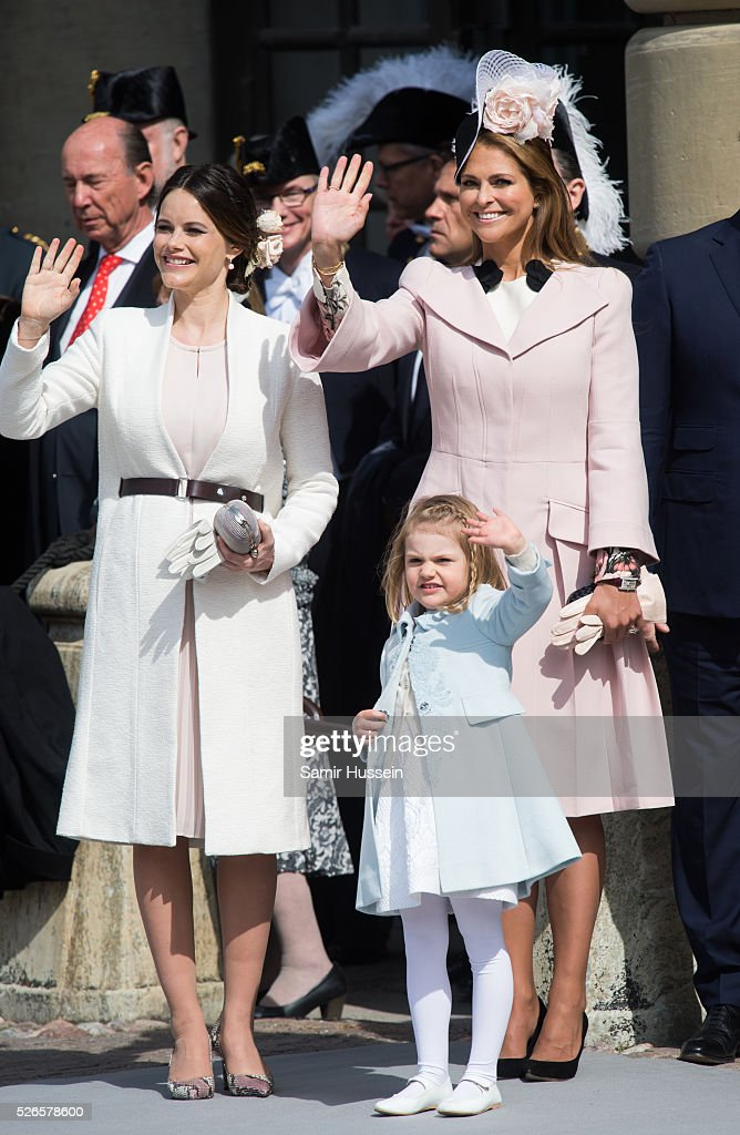 Princess Sofia of Sweden, Princess Estelle of Sweden and Princess Madeleine of Sweden attend the celebrations of the Swedish Armed Forces for the 70th birthday of King Carl Gustaf of Sweden on April 30, 2016 in Stockholm, Sweden.