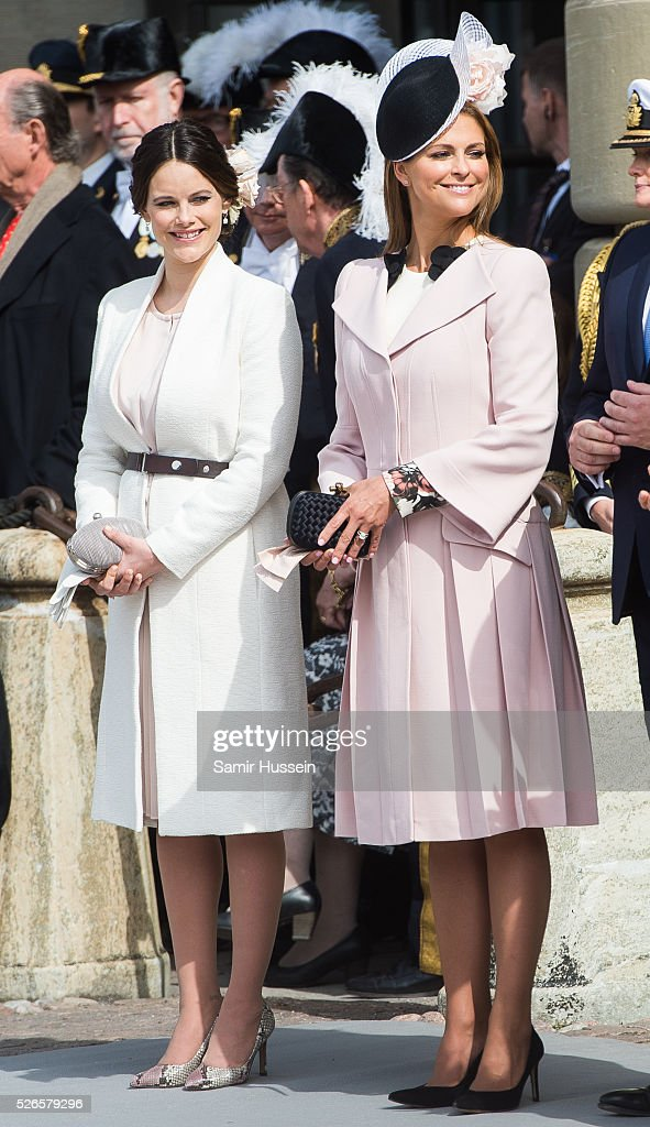 Princess Sofia of Sweden, Princess Madeleine of Sweden attend the celebrations of the Swedish Armed Forces for the 70th birthday of King Carl Gustaf of Sweden on April 30, 2016 in Stockholm, Sweden.