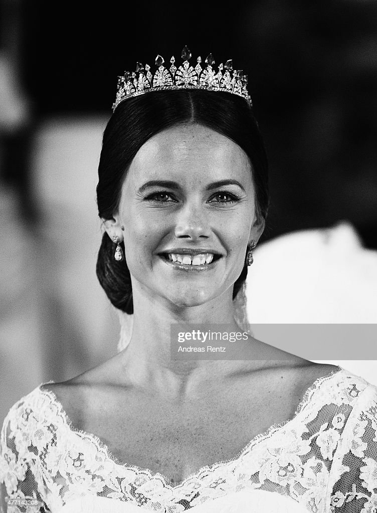 Princess Sofia of Sweden smiles after her marriage ceremony to Prince Carl Philip of Sweden at The Royal Palace on June 13, 2015 in Stockholm, Sweden.