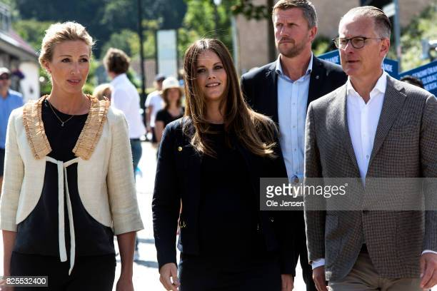 Princess Sofia of Sweden together with Bo Nilsson and Susanne Johansen Secretary General for 'A Sustainable Tomorrow' during their participation in...