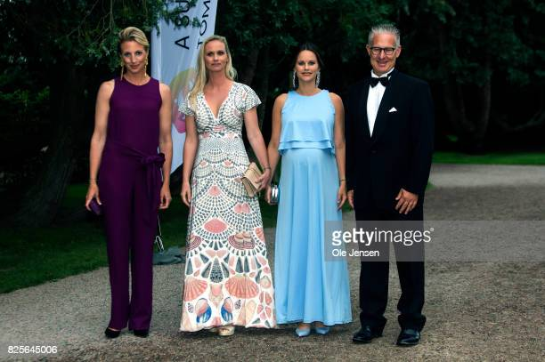 Princess Sofia of Sweden together with Bo Nilsson and Susanne Johansen Secretary General for 'A Sustainable Tomorrow' and spouses arrives to the...