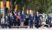 Princess Sofia Princess Leonor King Felipe of Spain Queen Letizia of Spain President of the Goberment of Spain Mariano Rajoy Minister of Defense...