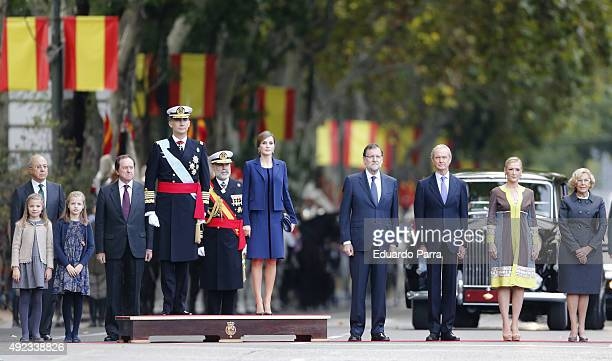 Princess Sofia Princess Leonor King Felipe of Spain Queen Letizia of Spain President of the Goberment of Spain Mariano Rajoy Minister of Defense...