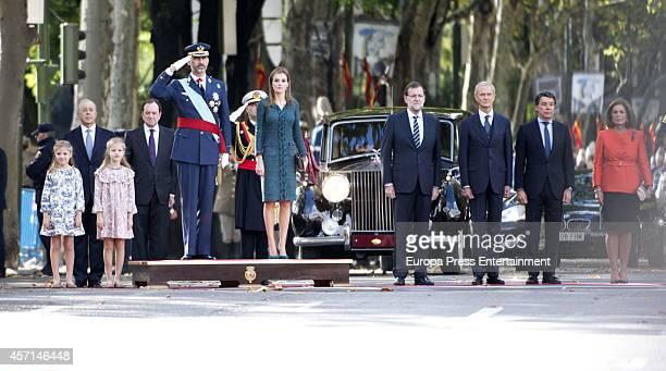 Princess Sofia Princess Leonor King Felipe VI of Spain Queen Letizia of Spain Mariano Rajoy Pedro Morenes Ignacio Gonzalez Ana Botella attend the...