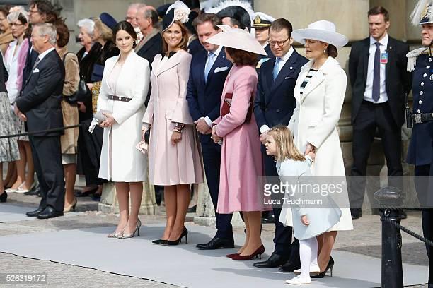 Princess Sofia Princess Madeleine of SwedenChristopher O'Neill Queen Silvia of Sweden Prince Daniel of Sweden Crown Princess Victoria of Sweden and...