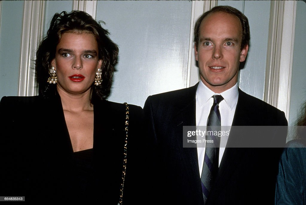 Princess Stephanie and Prince Albert of Monaco circa 1989 in New York City