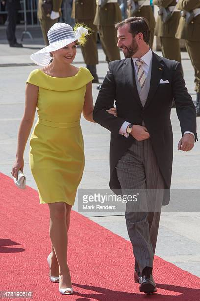Princess Stephanie and Prince Guillome of Luxembourg assist National Day on June 23 2015 in Luxembourg Luxembourg