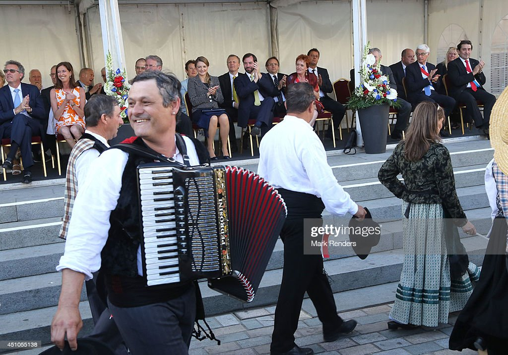 Princess Stephanie and Prince Guillome of Luxembourg visit the town Esch-sur-Alzette on June 22, 2014 in Luxembourg, Luxembourg.