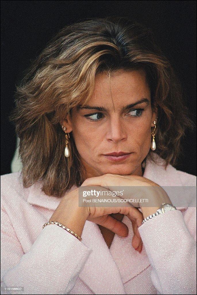 Princess Stephanie at Monaco elegance contest in Monaco City Monaco on September 20 1996