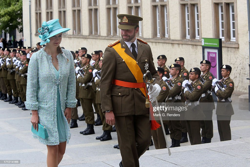 Princess Stephanie of Luxembourg and Prince Guillaume of Luxembourg celebrate National Day on June 23, 2013 in Luxembourg, Luxembourg.