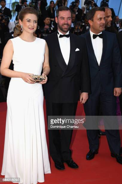 Princess Stephanie of Luxembourg and Prince Guillaume of Luxembourg attend the 'Ismael's Ghosts ' screening and Opening Gala during the 70th annual...