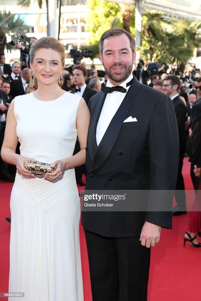 Princess Stephanie of Luxembourg and Prince Guillaume of Luxembourg attend the 'Ismael's Ghosts (Les Fantomes d'Ismael)' screening and Opening Gala during the 70th annual Cannes Film Festival at Palais des Festivals on May 17, 2017 in Cannes, France.