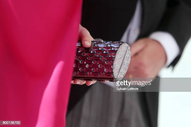 Princess Stephanie of Luxembourg arrive for the Te Deum for National Day at Notre Dame du Luxembourg cathedral on June 23 2017 in Luxembourg...