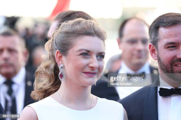 Princess Stephanie of Luxembourg attends the 'Ismael's Ghosts ' screening and Opening Gala during the 70th annual Cannes Film Festival at Palais des...