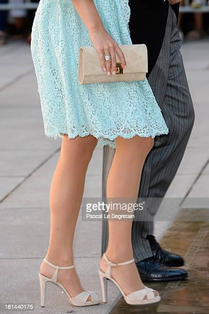 Princess Stephanie Of Luxembourg attends the Religious Wedding Of Prince Felix Of Luxembourg and Claire Lademacher at the Basilique Sainte...